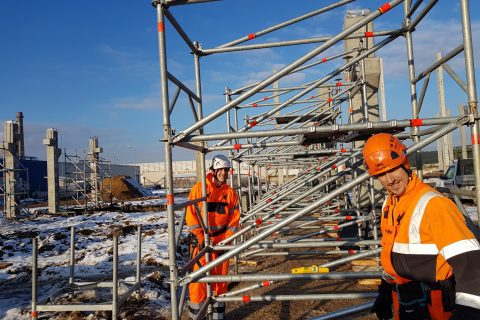 Prorentus has started a new industrial project using Layher TG-60 shoring system.