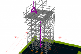 TG60 load bearing structure for craning purposes in 108 meters height
