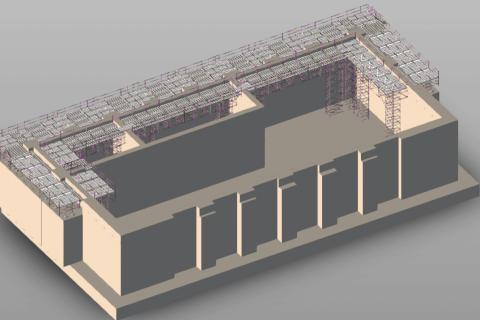 Kaunas CHP plant – Platform for climbing formwork