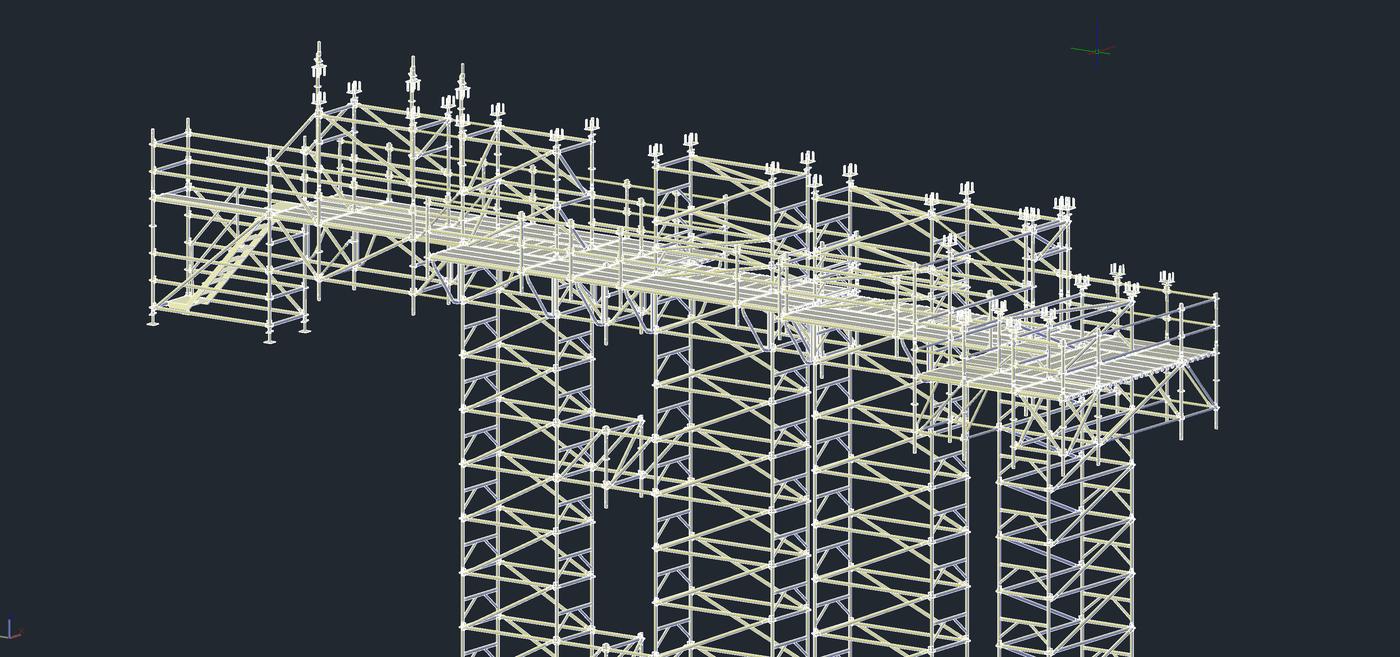 Prorentus Layher shoring TG60 reconstruction construction