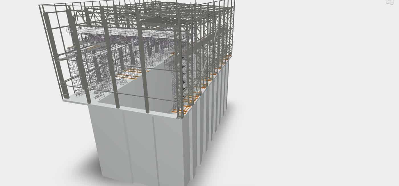 Kaunas CHP Movable scaffold bridge for roof installation Prorentus Layher PST