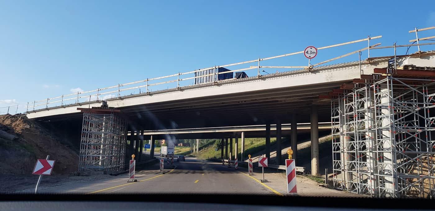 Prorentus Via Baltica viaduct shoring Layher