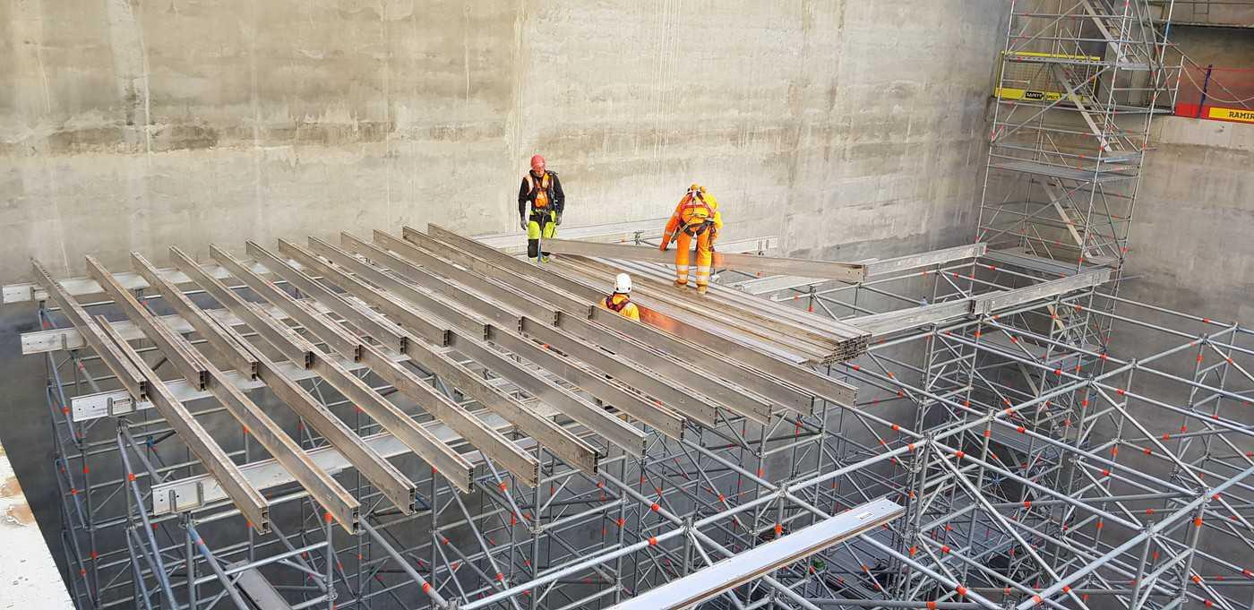 Prorentus shoring Layher platform