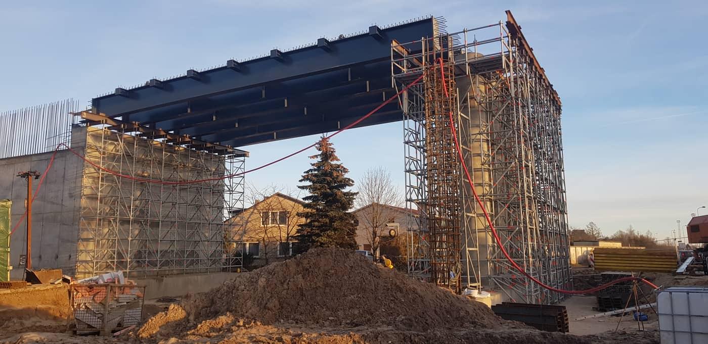 Prorentus bridge, Layher, shoring, TG-60, viaduct