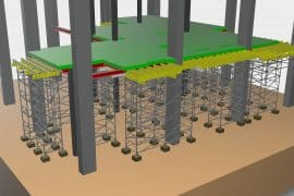 Construction of manufacturing usage and storage buildings (formwork and shoring engineering solutions)