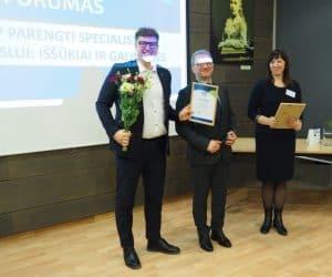 Prorentus award civil engineering Linas Adomavičius Andra Adomavičienė