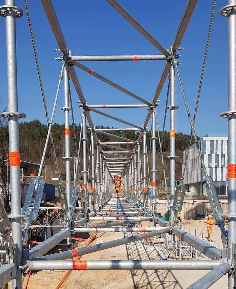 Prorentus shoring Layher scaffolding TG60 FW bridge